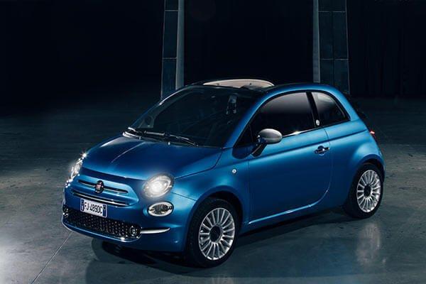 Fiat 500 Mirror außen blau
