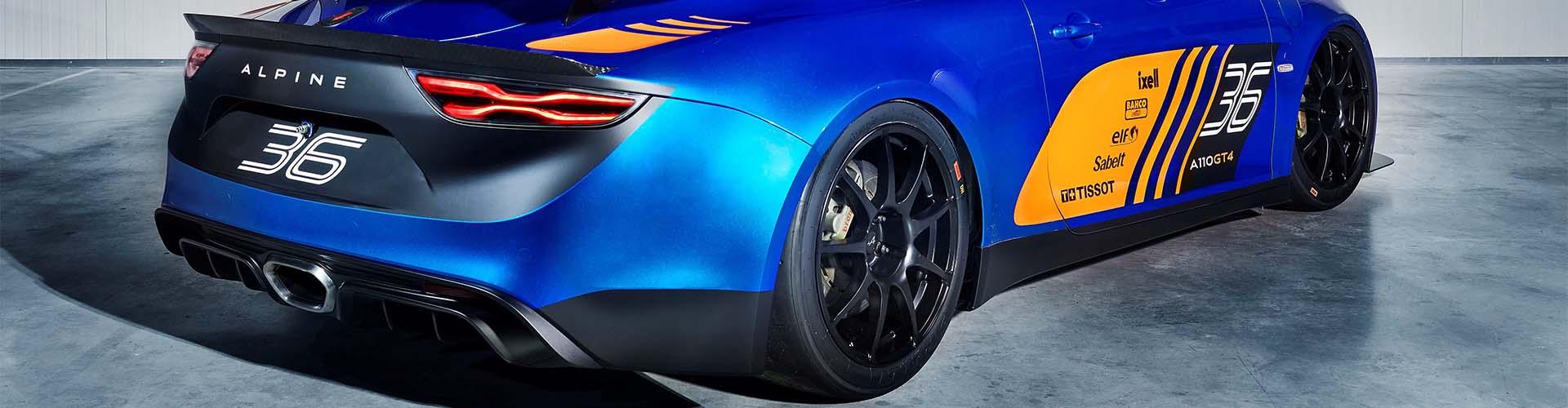 Alpine A110 GT4 hinten