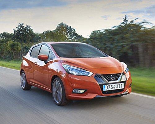 Nissan Micra orange