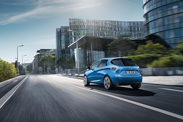 Renault Zoe blau hinten