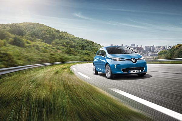 Renault Zoe blau