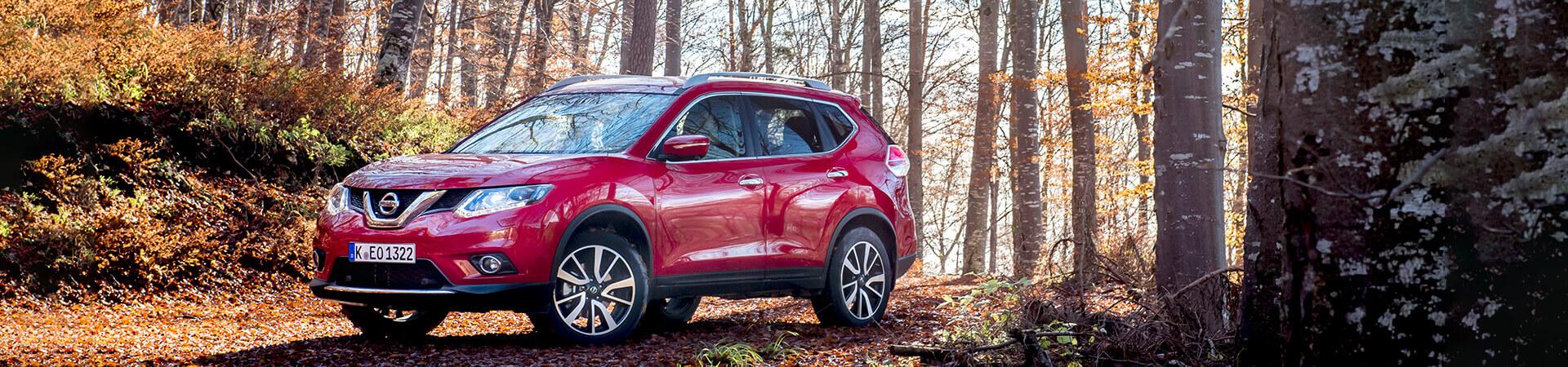 Nissan X-Trail Herbst Wald