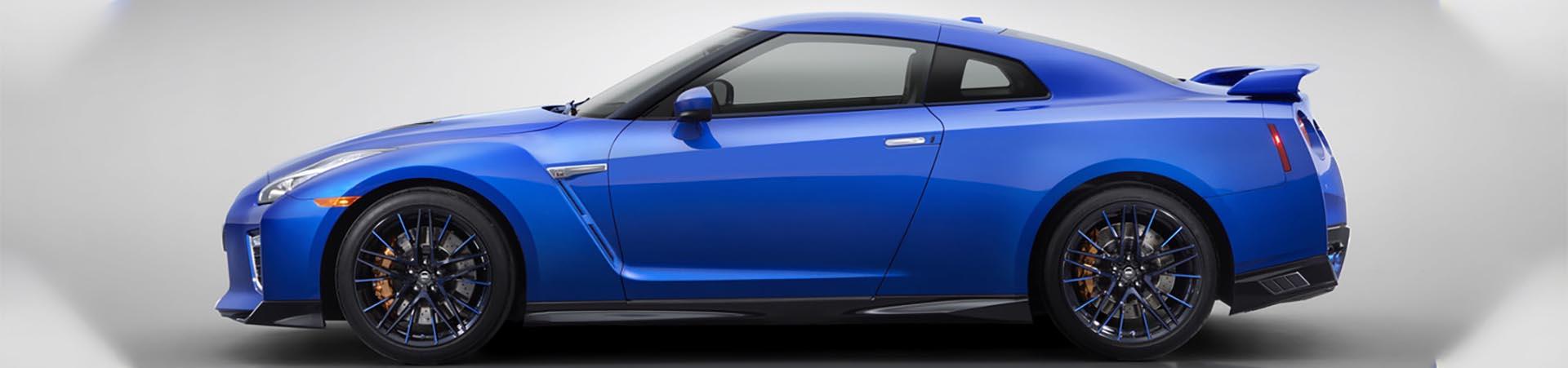 Nissan GT-R blau